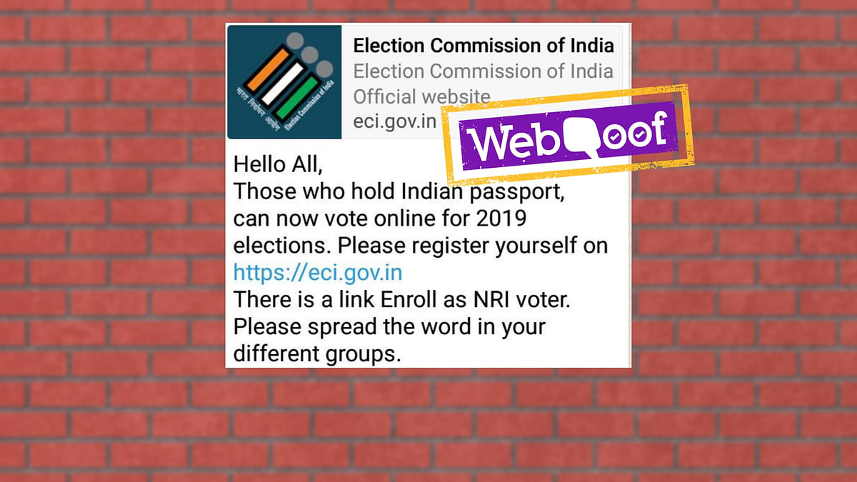 No, NRI Voters Can't Vote Online in 2019 Lok Sabha Elections
