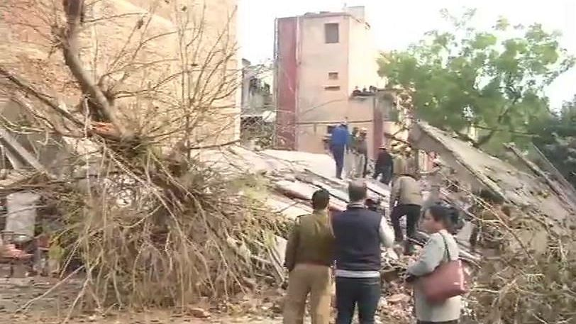 4-Storey Building Collapses in Karol Bagh, No Casualties Reported