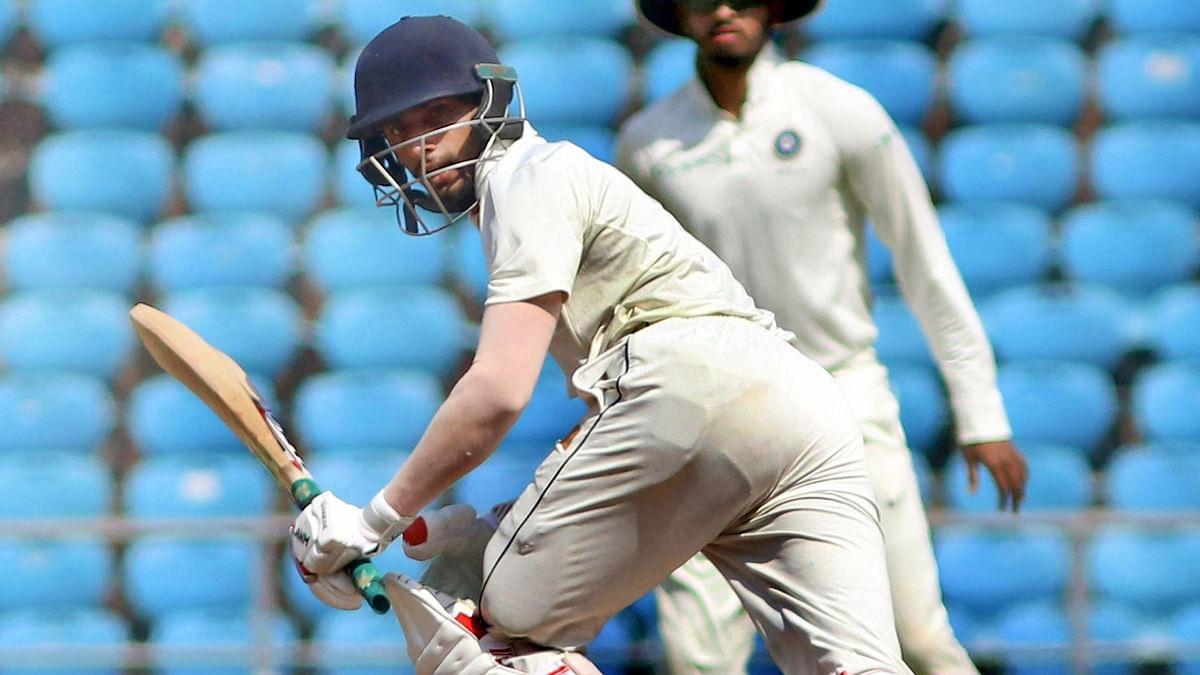 Vidarbha batsman Sanjay Ramaswamy plays a shot against Rest of India during Irani Cup cricket match at VCA Stadium, in Nagpur on Saturday, Feb. 16, 2019