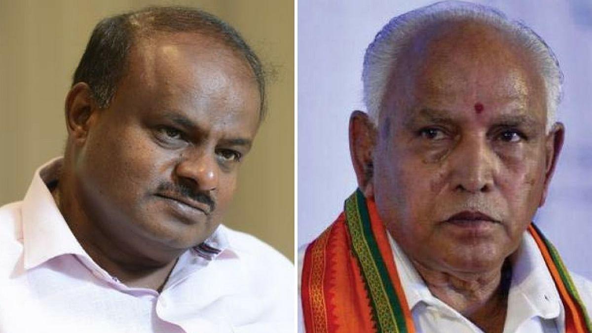 HD Kumaraswamy (left) and BS Yeddyurappa (right)