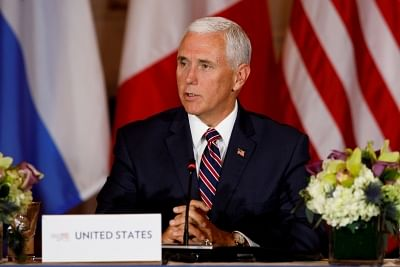 US Vice President Mike Pence speaks during the Conference on Prosperity and Security in Central America.