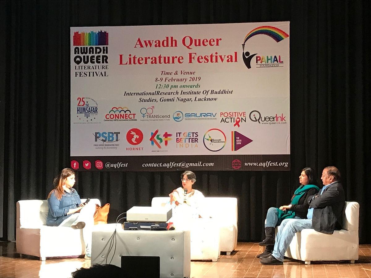 One off the panels ongoing at the Awadh Queer Literature Festival organised on 8 and 9 February.
