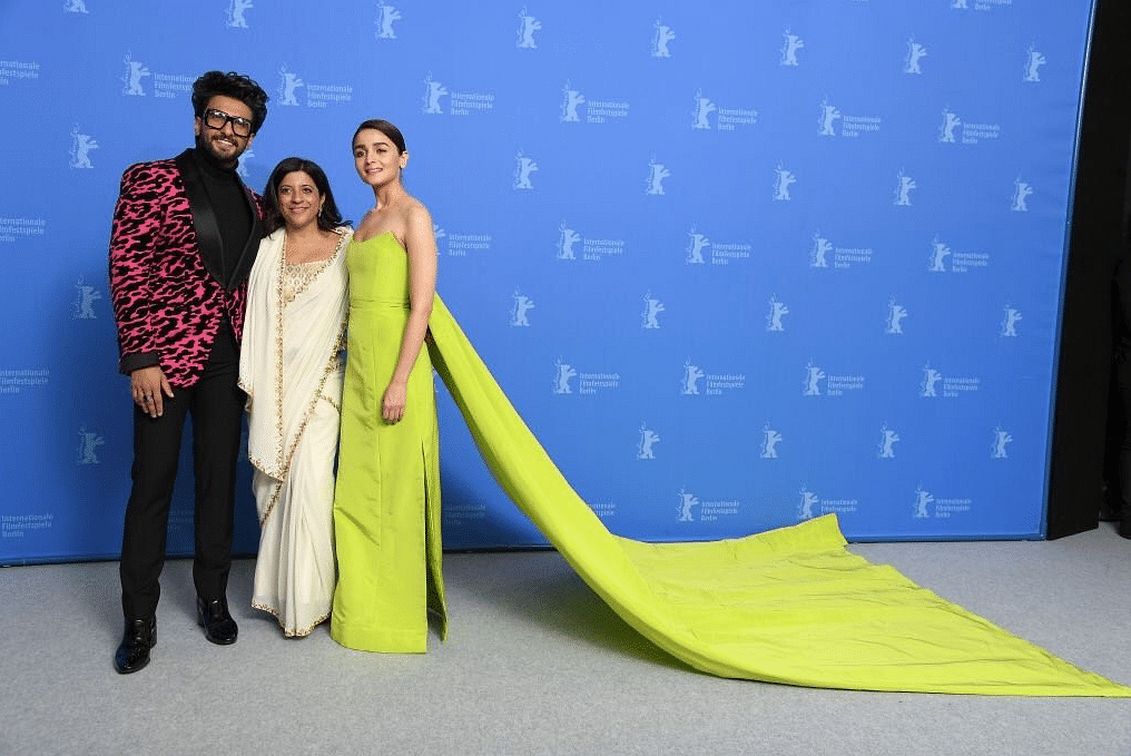 Ranveer Singh, Zoya Akhtar, Alia Bhatt at the Berlin Film Festival for <i>Gully Boy</i>.