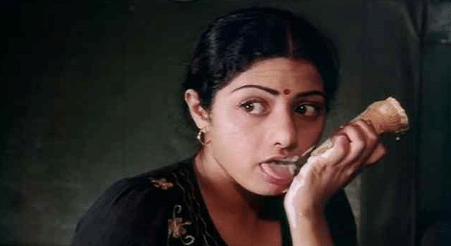 Sridevi in a scene from the film.