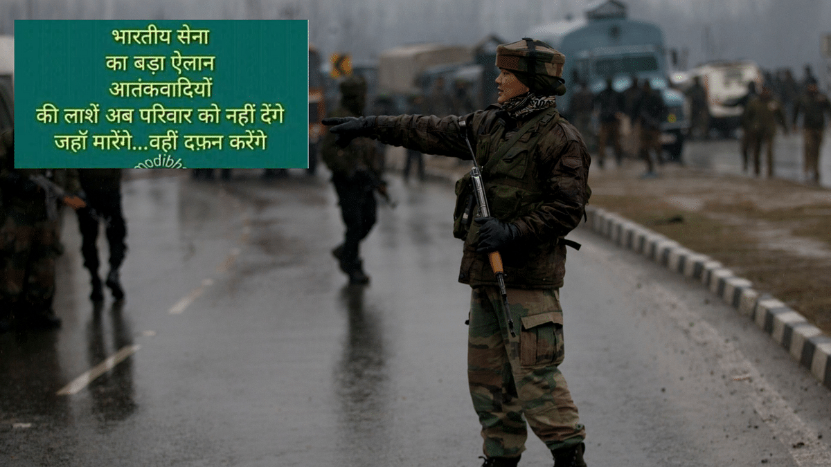 Many fake news posts have cropped up in the wake of the Pulwama attack that killed 40 CRPF jawans.