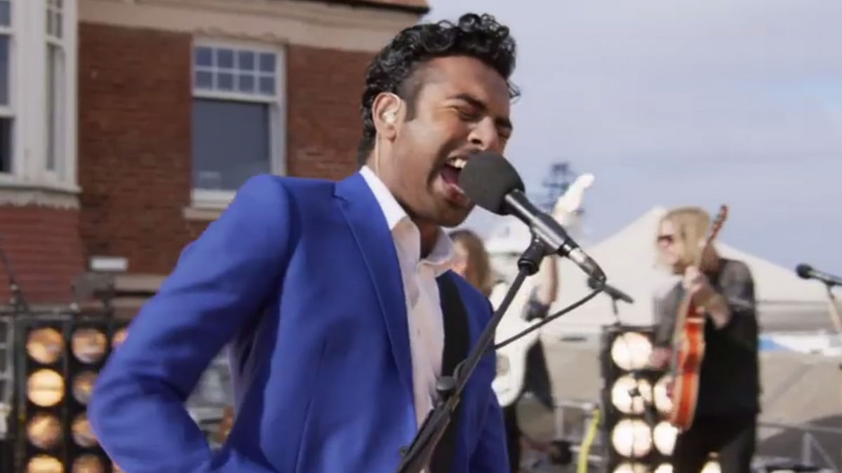 Himesh Patel as Jack Malik in a still from <i>Yesterday</i>.