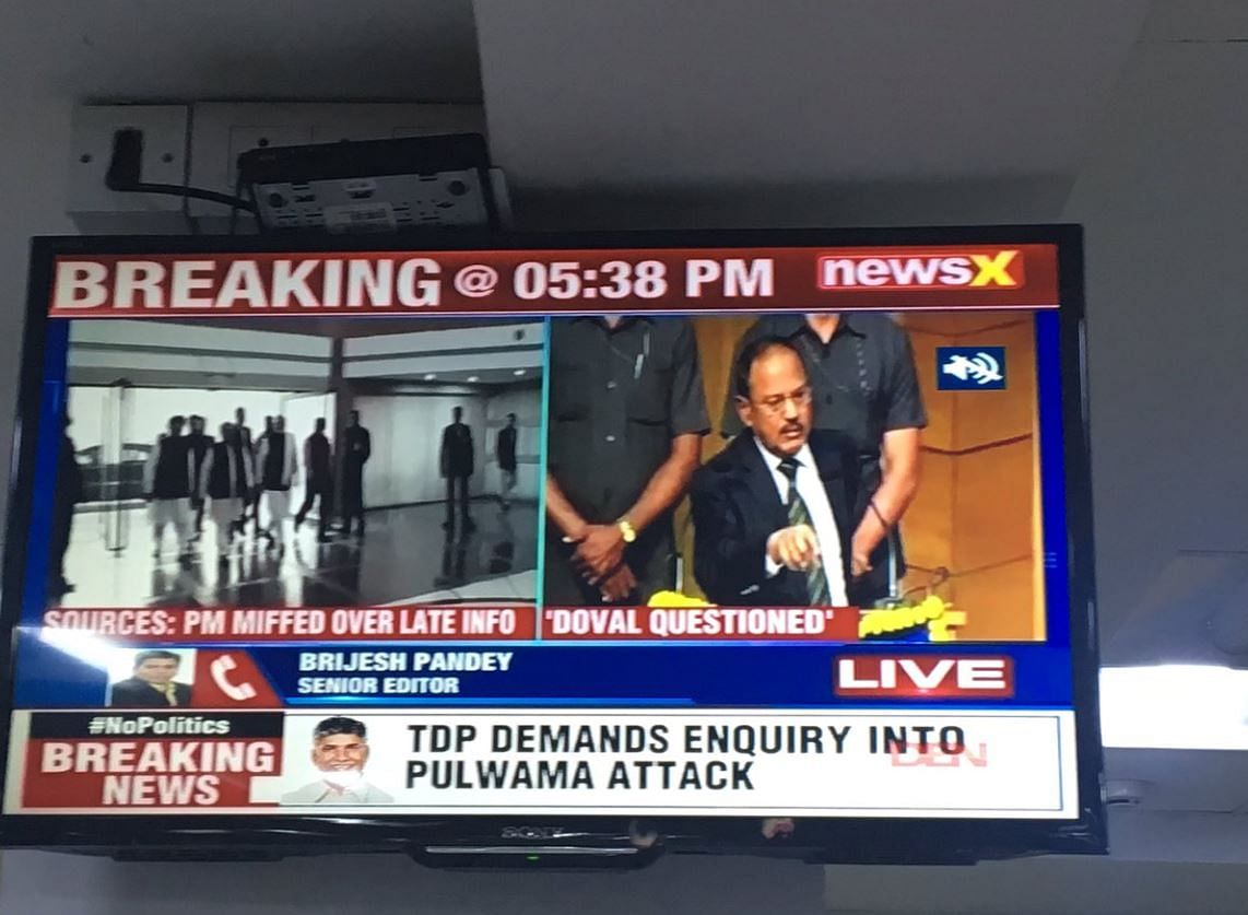 "NewsX flashed that Prime Minister Narendra Modi was ""miffed"" at National Security Advisor Ajit Doval for ""late info"" on the terror attack."