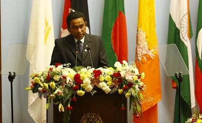 Abdulla Yameen. (Xinhua/Pool/Narendra Shrestha/IANS)