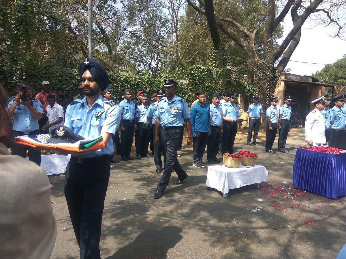 Sqn Ldr Siddhartha Negi's funeral.
