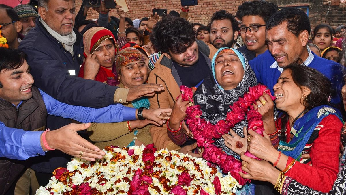 Pulwama Attack: Family Members Bid Farewell to Martyrs