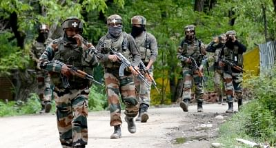 Soldiers in Jammu and Kashmir. (Photo: IANS)