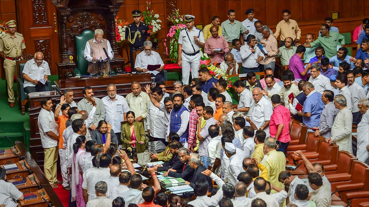 Karnataka Budget: Finance Bill Passed Amid BJP Protests