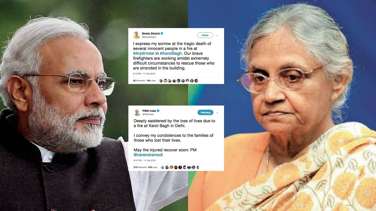 PM, Dikshit and Others Offer Condolences After Karol Bagh Fire