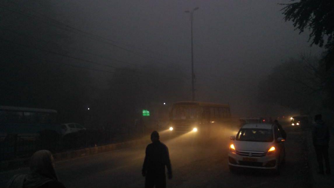 Fog in Delhi.