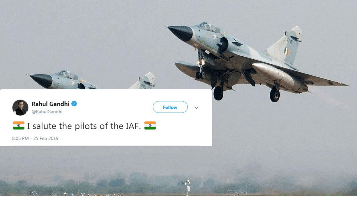 'Salute the Pilots': Rahul Gandhi, Others React to IAF Air Strike