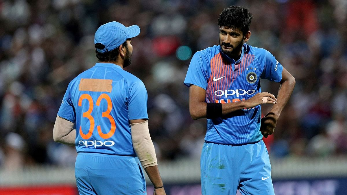 File photo of Rohit Sharma (left) and Khaleel Ahmed (R).