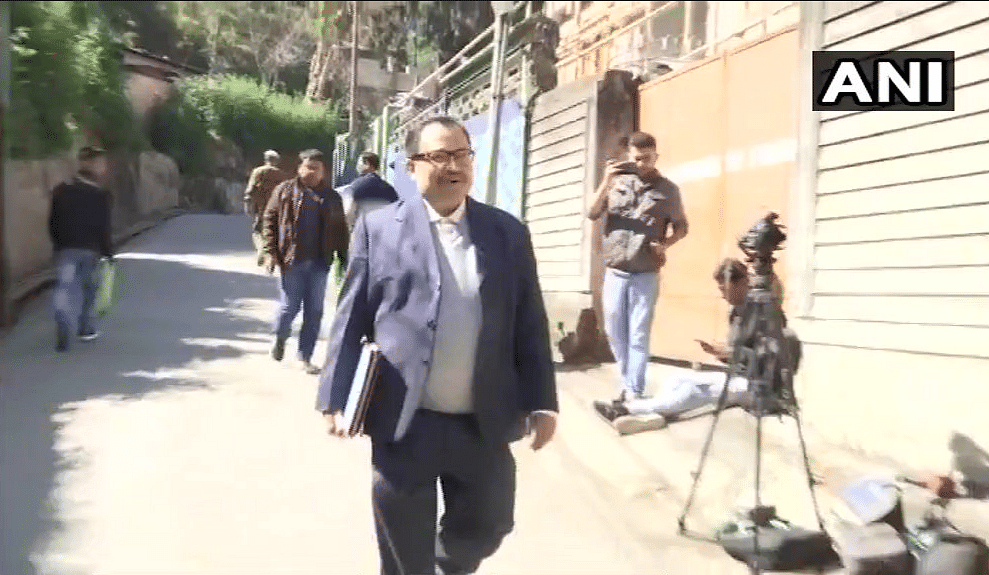 The former TMC MP at the CBI office in Shillong.