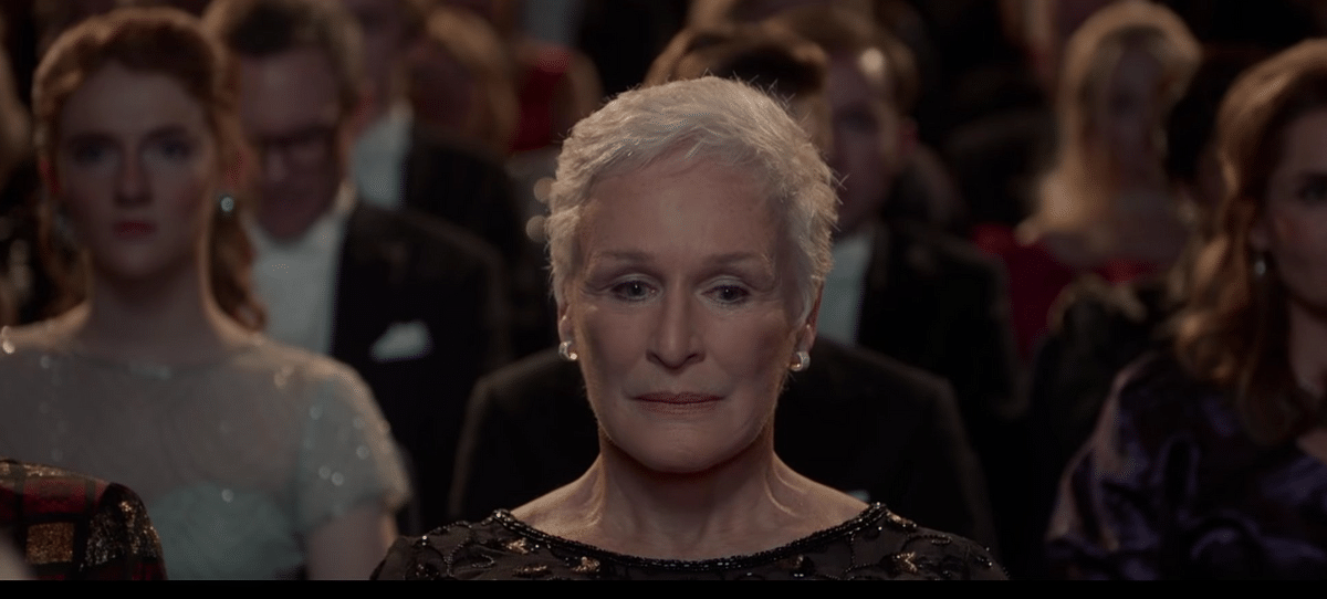 Glenn Close in a still from <i>The Wife</i>.
