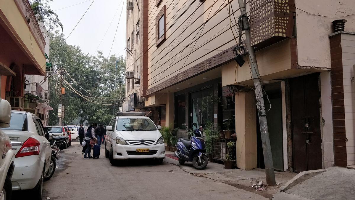 A cluster of hotels near Karol Bagh's Abdul Aziz Road.