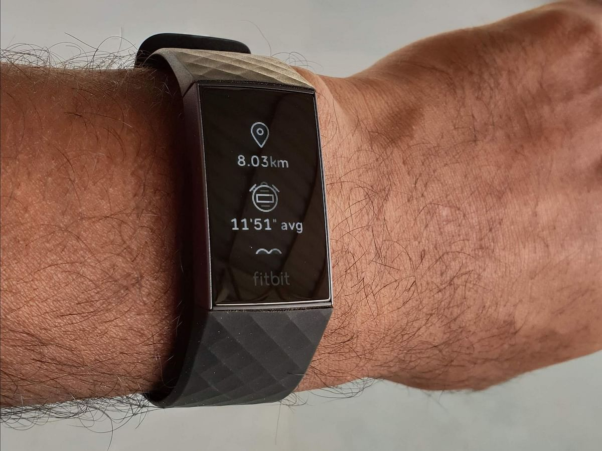 The Fitbit charge 3 comes with a heart-rate monitor.