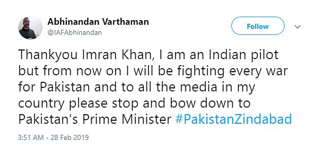 These Fake Accounts Impersonate Abhinandan, Gain Followers