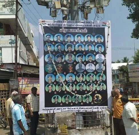 In Tiruvannamalai district's Vandavasi too the posters were seen - put up by a workers' union.