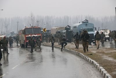 Pulwama: The site on on the Srinagar-Jammu highway where 20 Central Reserve Police Force (CRPF) troopers were killed and 15 others injured in an audacious suicide attack by militants in Jammu and Kashmir
