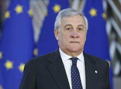 BRUSSELS, Dec. 13, 2018 (Xinhua) -- European Parliament President Antonio Tajani arrives at a two-day EU summit in Brussels, Belgium, Dec. 13, 2018.  (Xinhua/Ye Pingfan/IANS)
