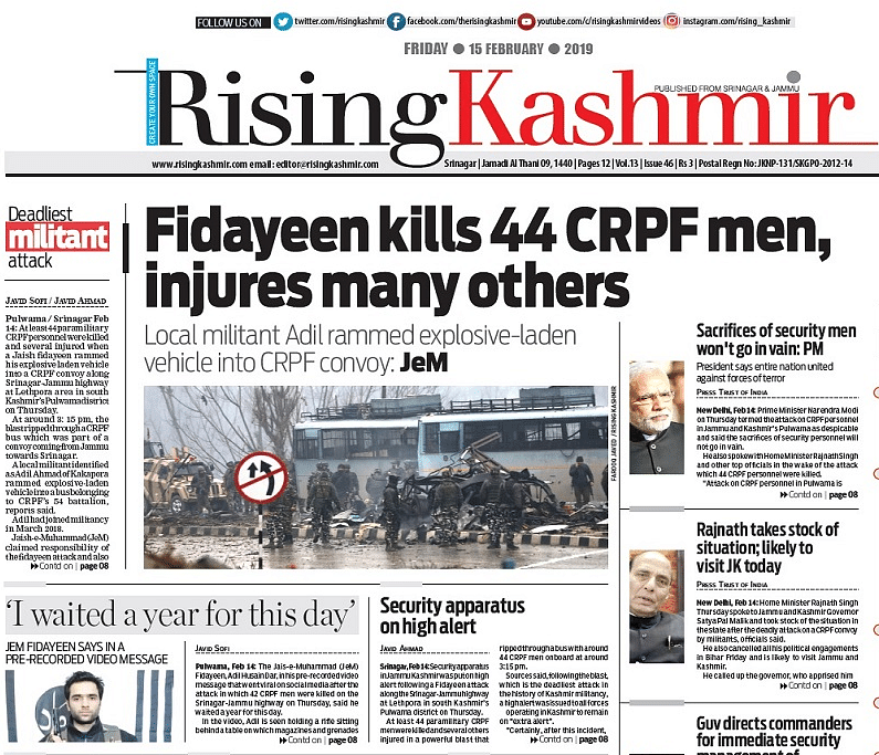 'Bloodiest Day': How Indian Media Covered Pulwama Terror Attack