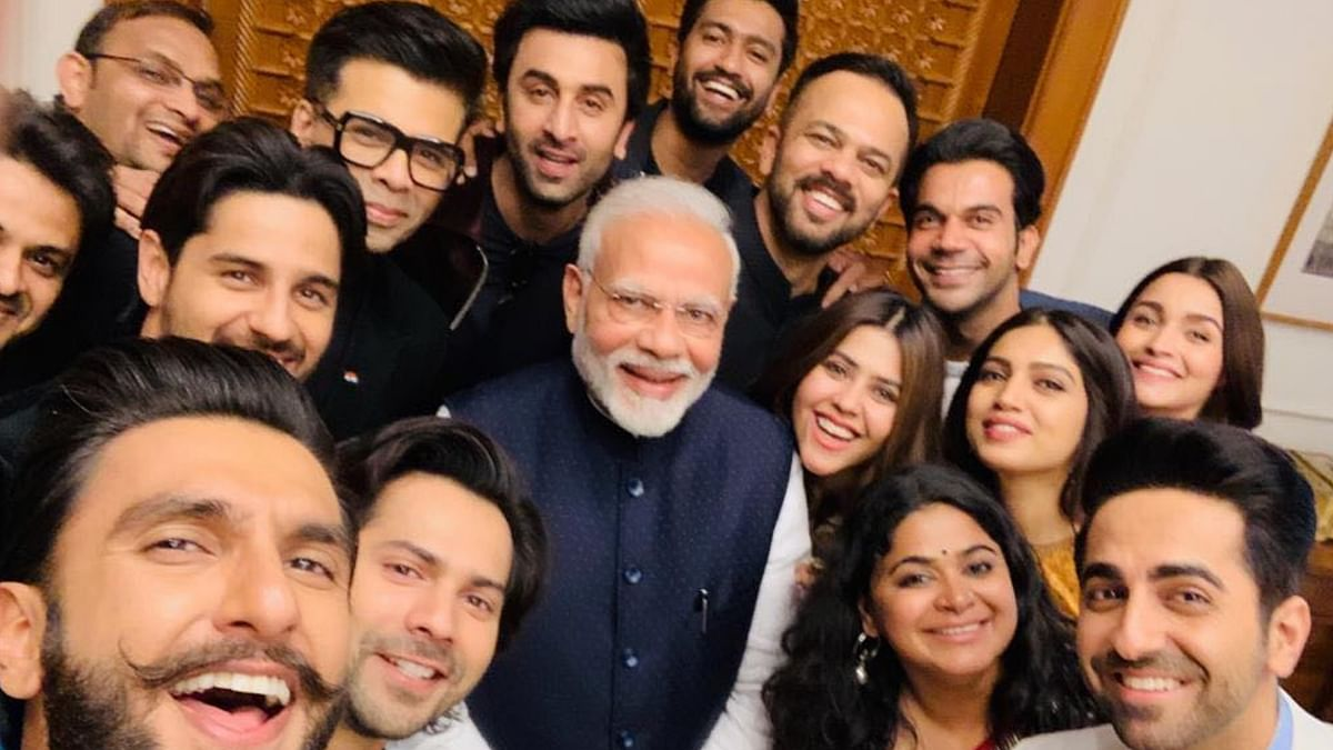 Ranbir Kapoor, Vicky Kaushal, Rohit Shetty and other Bollywood stars met PM Modi in January 2019.
