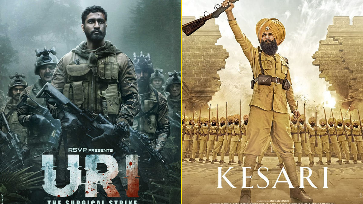 <i>Uri: The Surgical Strike</i> and <i>Kesari</i> are some of the patriotic films from Bollywood in 2019.