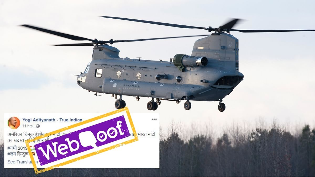 Post Claiming India Is Only Non-NATO Nation to Get Chinook is Fake