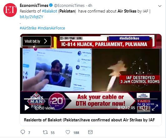 News Channels Run Old Video as Actual Footage of IAF Air Strikes
