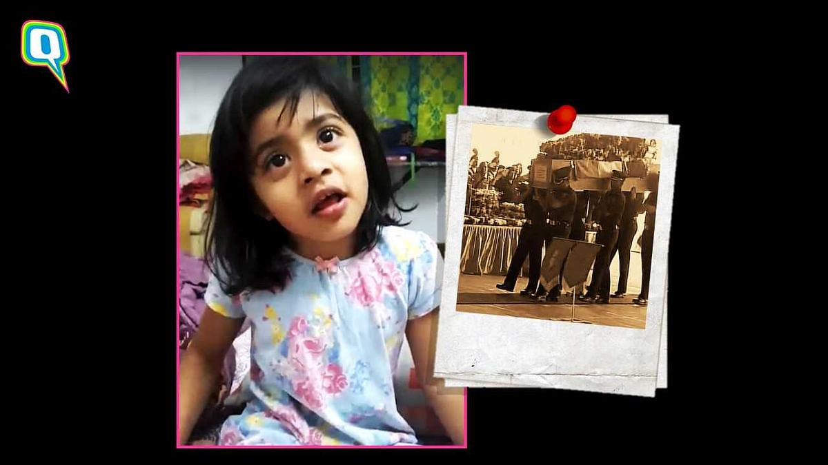 Little Daughter Of Indian Army Martyr Remembers What Papa Said
