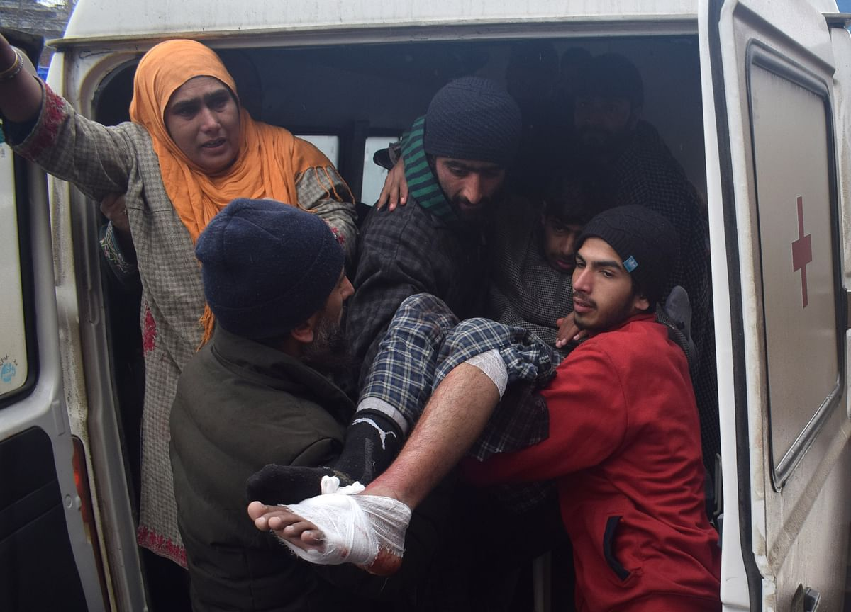 The injured students being shifted SHMS Hospital.