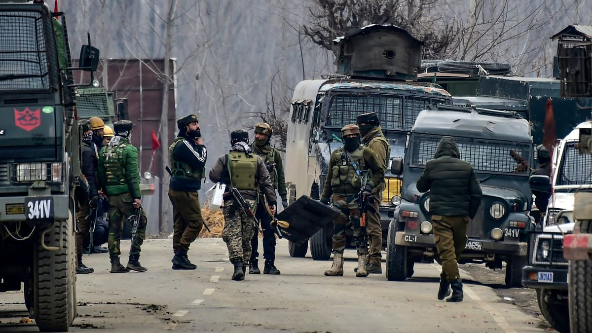 A photo of the 14 February Pulwama terror attack.