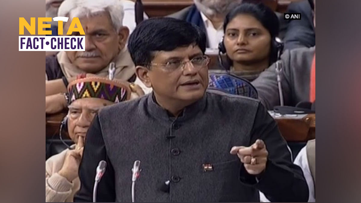 True or Not? Fact Checking Piyush Goyal's Budget 2019 Speech