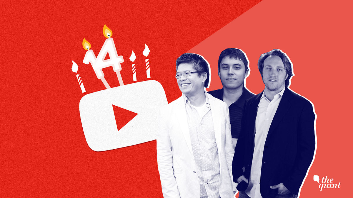 The founder of YouTube, (from left to right) Steve Chen, Jawed Karim and Chad Hurley.