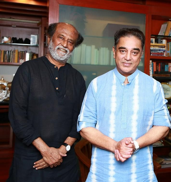 Rajinikanth and Kamal Haasan.