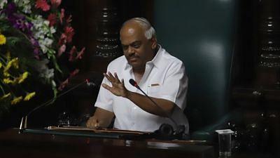 Karnataka Assembly Speaker KR Ramesh Kumar.