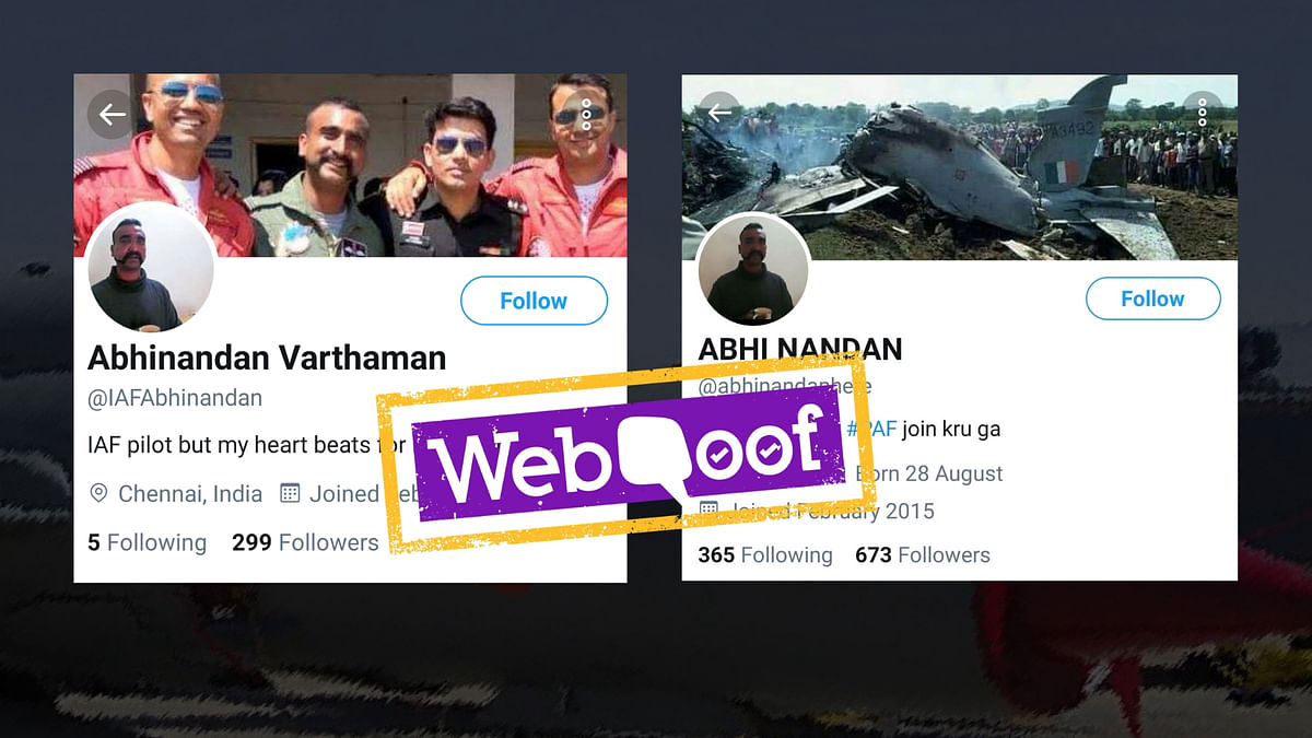 These Fake Accounts Impersonate Abhinandan, Gain Followers