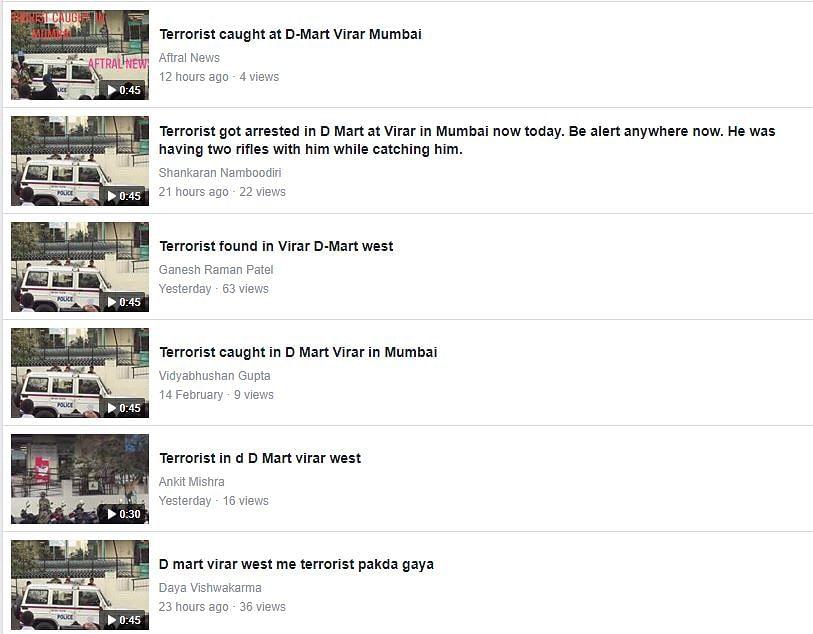 Mock Drill Video at Virar D-Mart Shared As Real Terrorist Captured