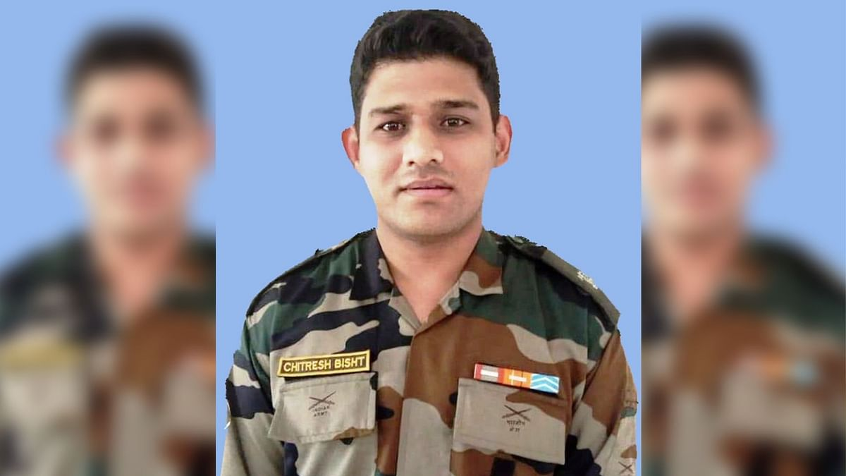 Major Chitresh Singh Bisht who lost his life while defusing an IED bomb in J&K's Nowshera sector.