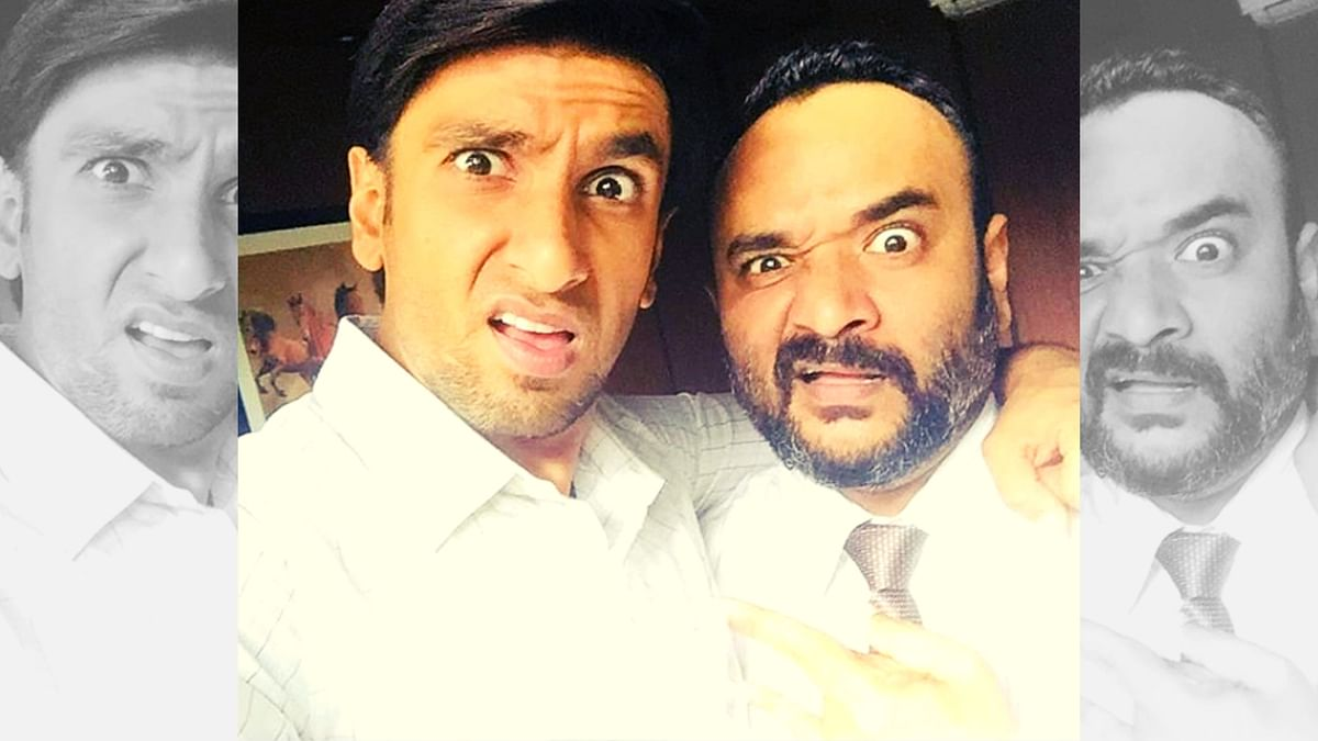 Ranveer Singh poses with Vijay Maurya.
