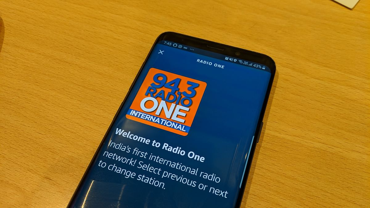 Radio One is one of the many channels you can play via Alexa.