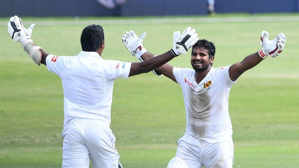 The partnership between Perera and Fernando was a record for the highest 10th-wicket partnership to win a test.