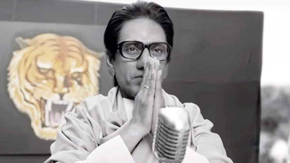 Nawazuddin Siddiqui as Shiv Sena leader Bal Thackeray in <i>Thackeray</i>.