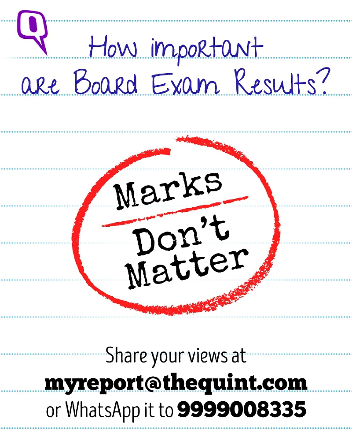 Marks Don't Matter, There's Lots Waiting for You After Exams