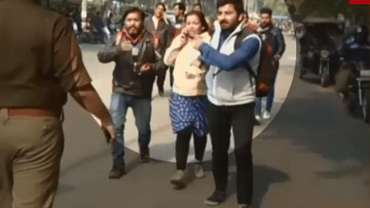 The journalists were reportedly at the AMU to cover an event.