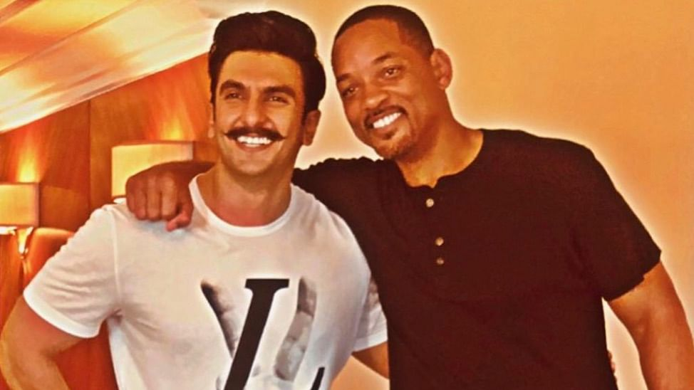 Ranveer Singh with Will Smith last year.
